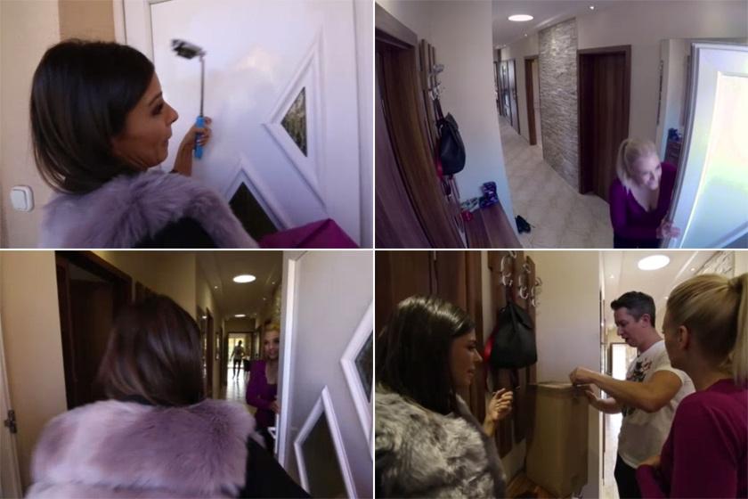 Molnár Andi is meglepődött, amikor meglátta, hogy milyen hosszú folyosó vezet be Peller Annáék lakásába.