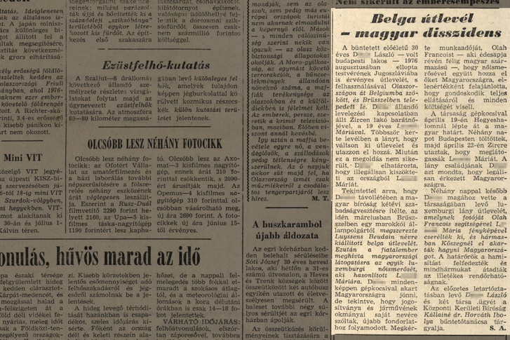 Népszava 1978. júniusi száma