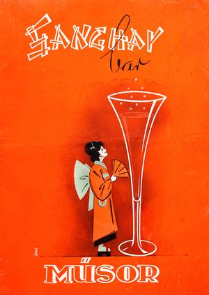 Sanghay bar, műsorfüzet (címlap).                          Magángyűjtemény, Szántó András tulajdona