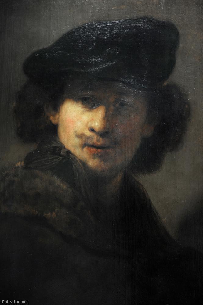 Rembrand bársony sapkás önarcképe 1634-ből.