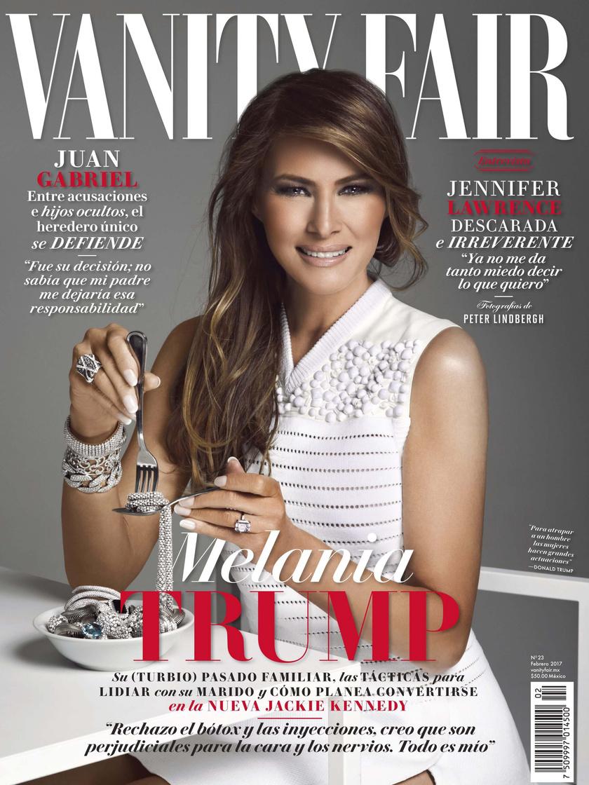 Melania a magazin januári címlapján