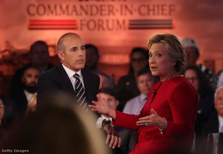 Matt Lauer Hillary Clintonnal