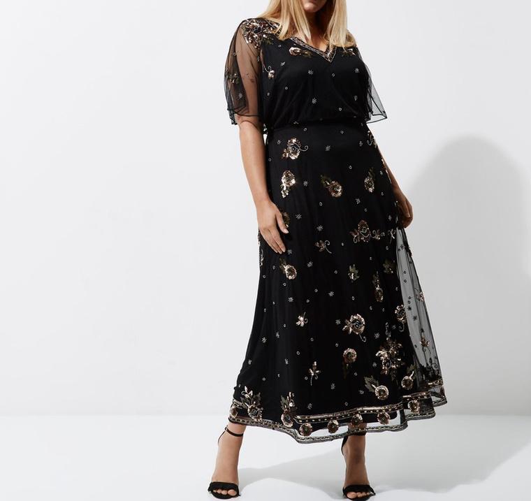 Szeretjük a River Island telt karcsú nőknek tervezett maxiruháját