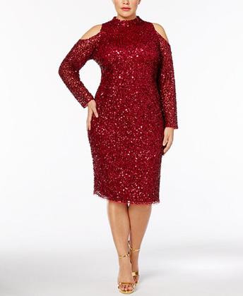 Az Adrianna Papell gondolt a plus size méretű karácsonyozókra is