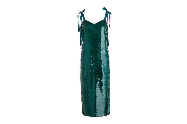 Flitteres zöld ruha 328 fontért, kb.114 ezer forintért a J.Crew-nál.