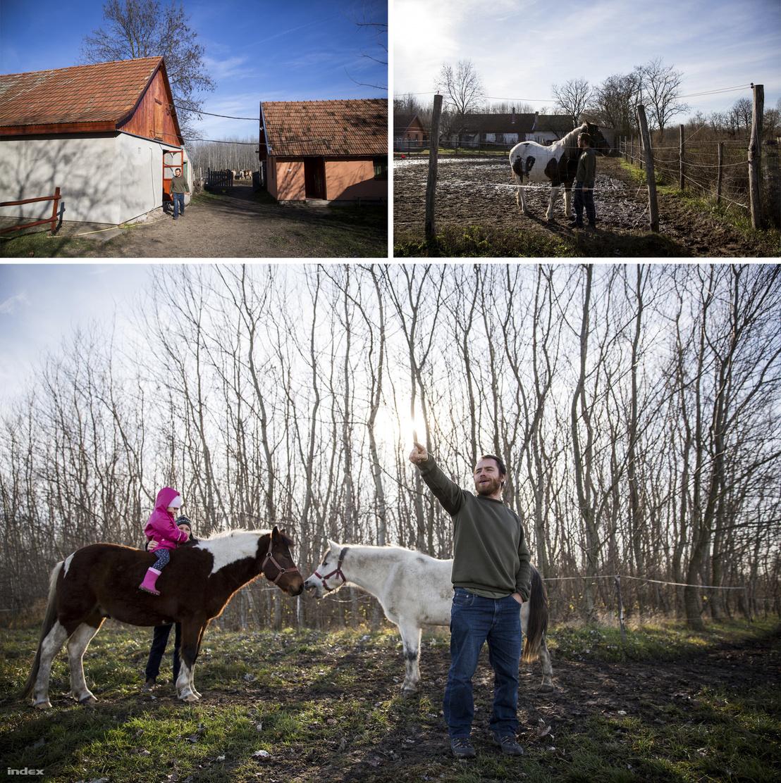 Szabó Gézáék tanyája mögött húzódik a nyomvonal