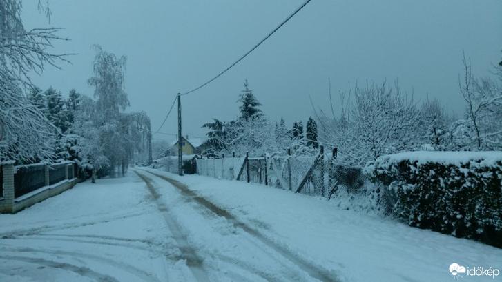 Sopronkőhidán már 10 centis a hó