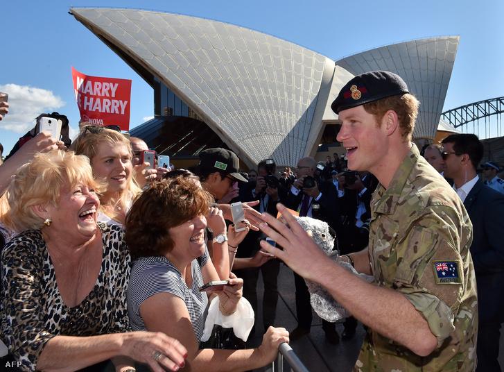 Harry herceg Sydney-ben 2015-ben