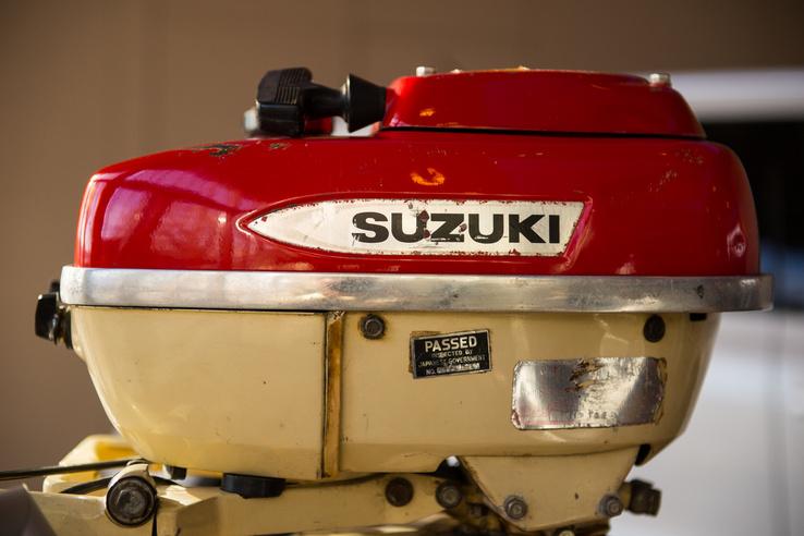 A Suzuki első hajómotorja 1965-ből