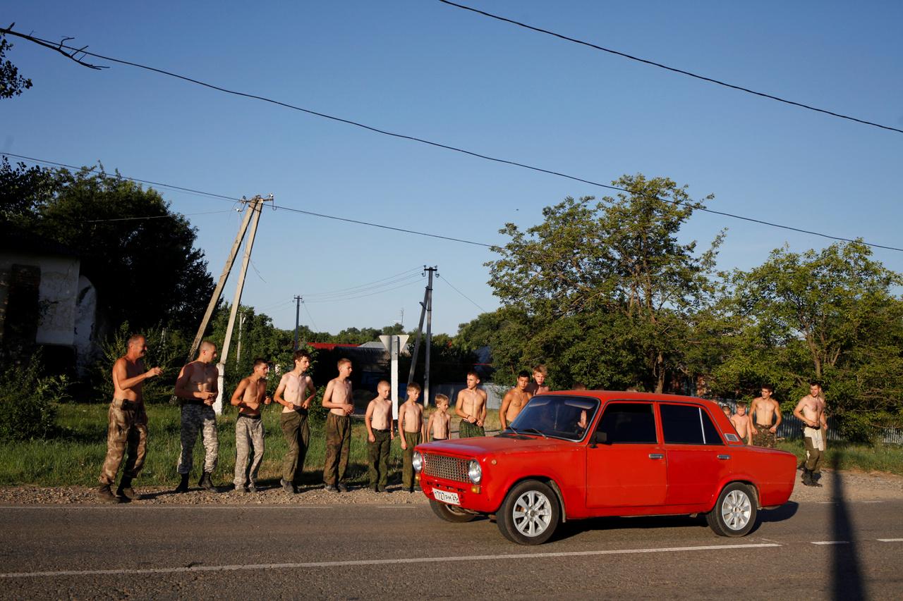 Véget ért a futóedzés. A Sztavropol melletti Szengilejevszkojében.
