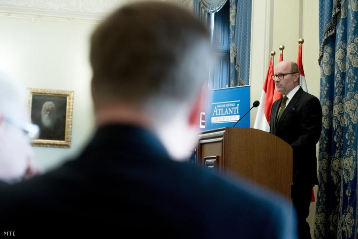 Rastislav Kacer a Szlovák Atlanti Bizottság elnöke a Magyar Atlanti Tanács 25. évfordulója alkalmából rendezett jubileumi ünnepségen