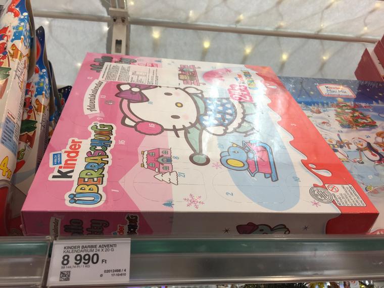 Ne tévesszen meg a minta, korcsolyázó Hello Kitty kalendáriumot 695 forintért és majdnem 9000 forintért is lehet venni