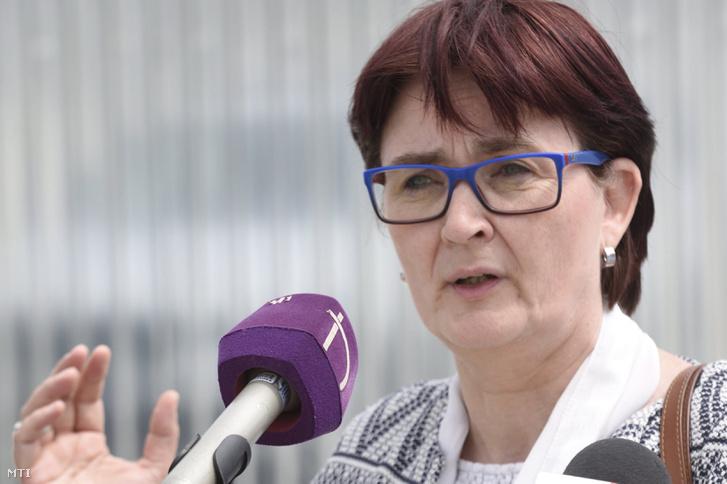 Birgit Sippel 2017. május 5-én Röszkén