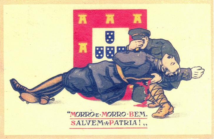 """""""Most meghalok, de jó halált halok. Mentsétek meg a hazát!"""" – mondja Pais utolsó leheletével egy portugál képeslapon."""