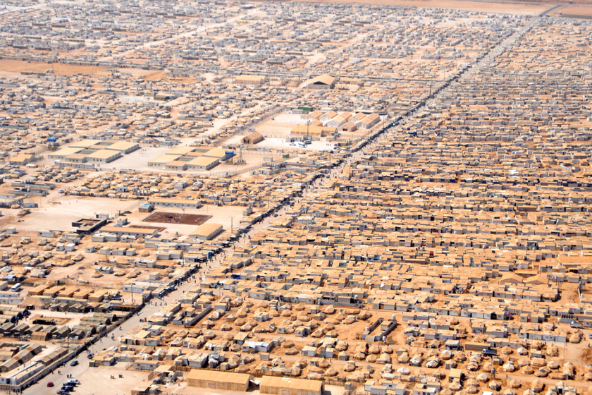 A Zaatari menekülttábor 2013-ban.