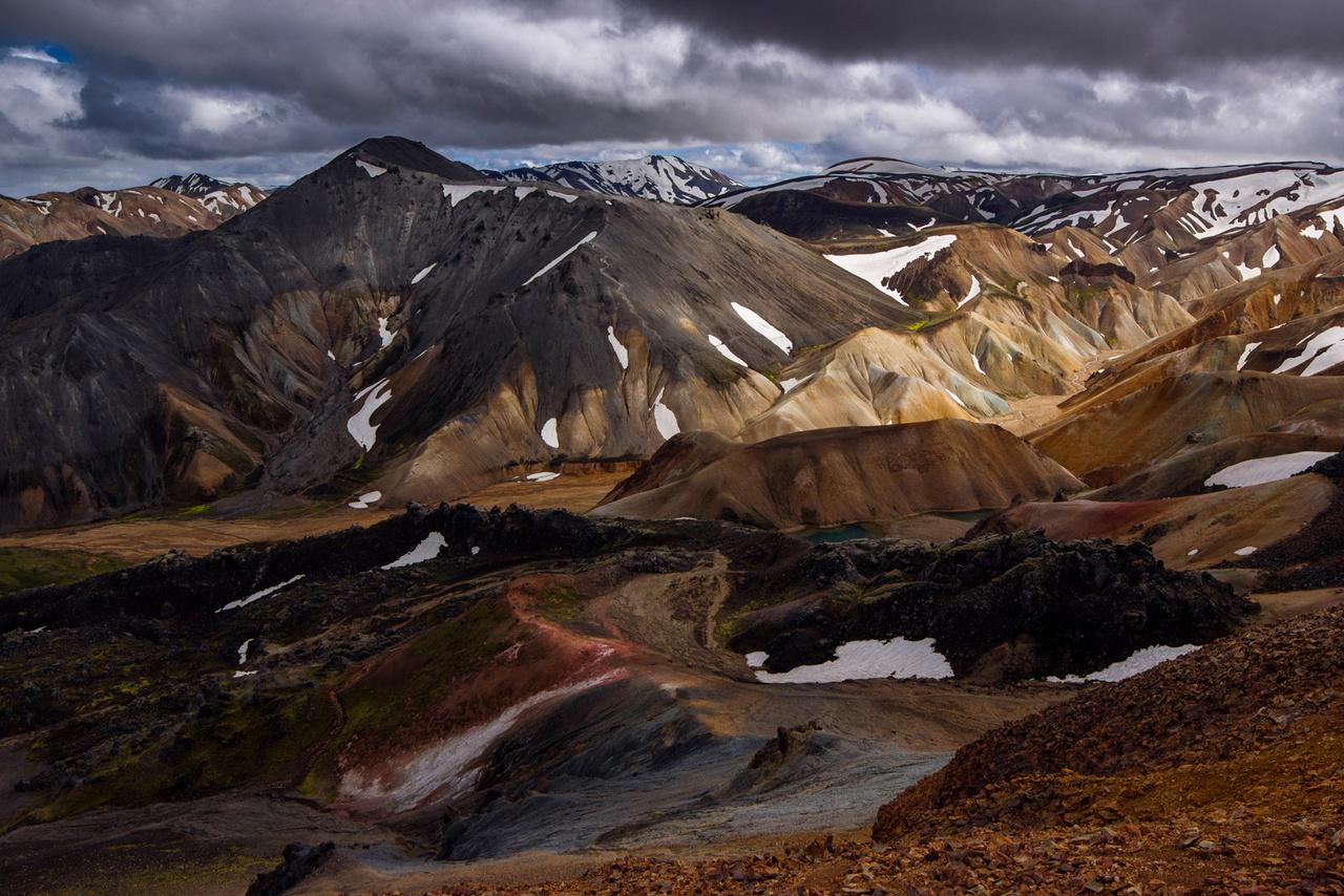 Landmannalaugar színei