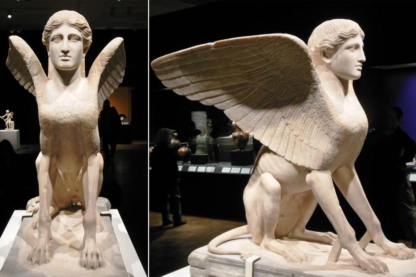 Görög szfinx szobor