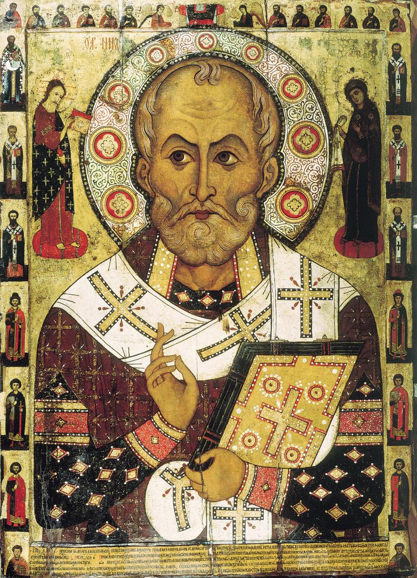 Lipensky Szent Miklós ikonja Novgorodban, 1294-ből.