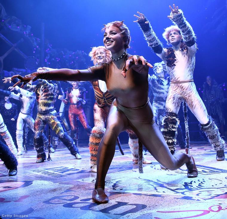 Ez a kép szeptember 30-án készült a Broadway-en a Macskák előadásról.
