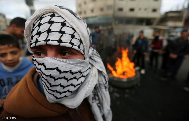 Palesztin Gázában 2017. december 7-én