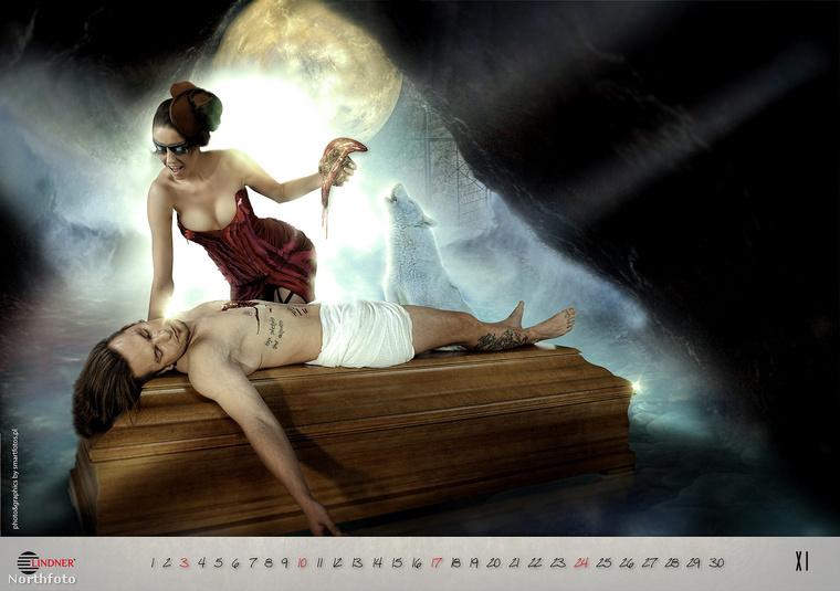 2013-ban szintet lépett a koporsó tematikájó meztelen nős naptár.