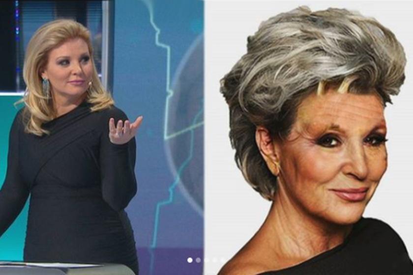A műsor készítői szerint Liptai Claudia így nézne ki, ha 140 évig élne.