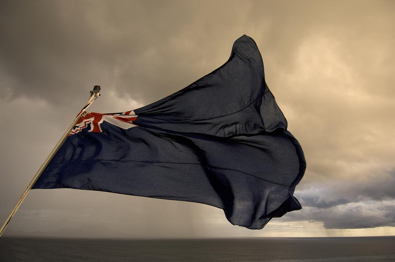 A Queen Mary 2 zászlója                         Karib-tenger, 2008