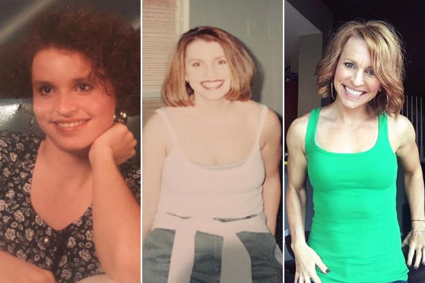 Rhonda Layton 18 évesen, a húszas éveiben és most, negyven felett. Ugyan már a harmincas éveiben is igyekezett egészségesebb életmódot folytatni, mégsem ért el jelentős sikereket.