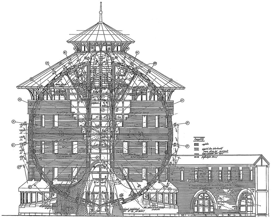 Ekler Dezső terve a Kaposvári Egyetem gazdaságtudományi karának épületére, 1989