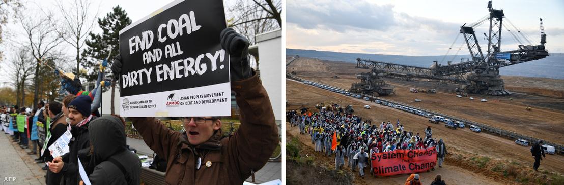 Németországban rendszeresek a szénbányászat, a fosszilis energiahordozók elleni tüntetések