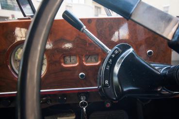 Ez a reteszfék (P) nélküli Rolls-Royce-váltó előválasztó kulisszája