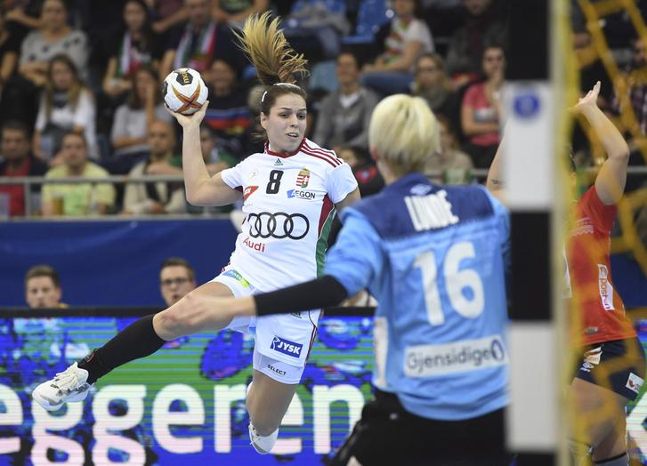 Kovacsics Anikó a Norvégia-Magyarország mérkőzésen