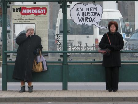 A Kétfarkú Kutya Pártjának akciója a Warhol-kiállításra (www.mkkp.hu)