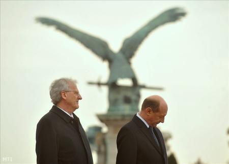 Sólyom László és Traian Basescu Budapesten