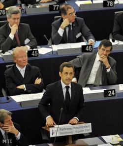 Nicolas Sarkozy az Európai Parlament plenáris ülésén
