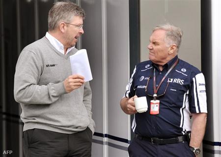 Ross Brawn és Patrick Head Williams-társtulajdonos