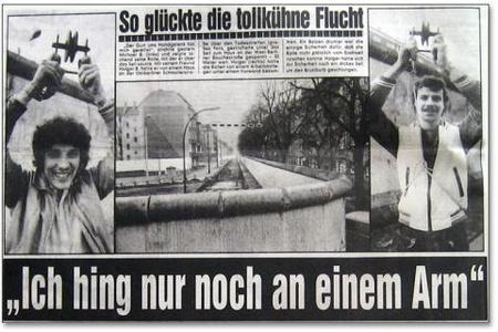Így szökött át a második testvér a berlini fal fölött