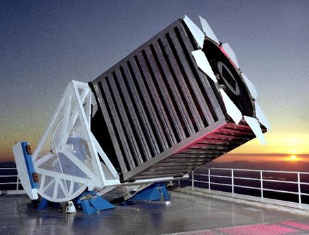 A felméréshez használt 2,5 méteres teleszkóp.
