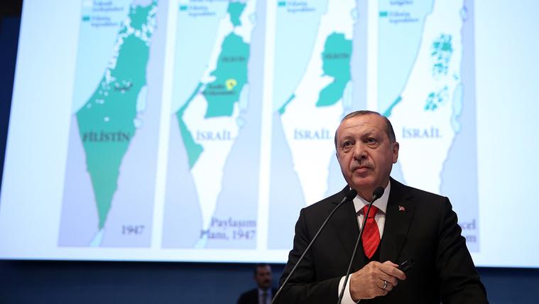 Erdogan: Jeruzsálem Palesztina fővárosa legyen!
