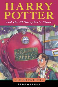 J.K.Rowling: Harry Potter és a bölcsek köve - első, angol kiadás papír védőborító nélkül.