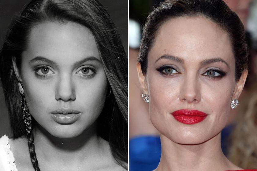 Angelina Jolie 1991-ben és ma.