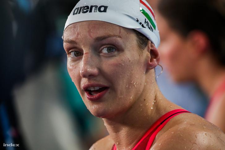 Hosszú Katinka a 2017-es vizes vb-n a női 200 méteres gyorsúszás előfutama után