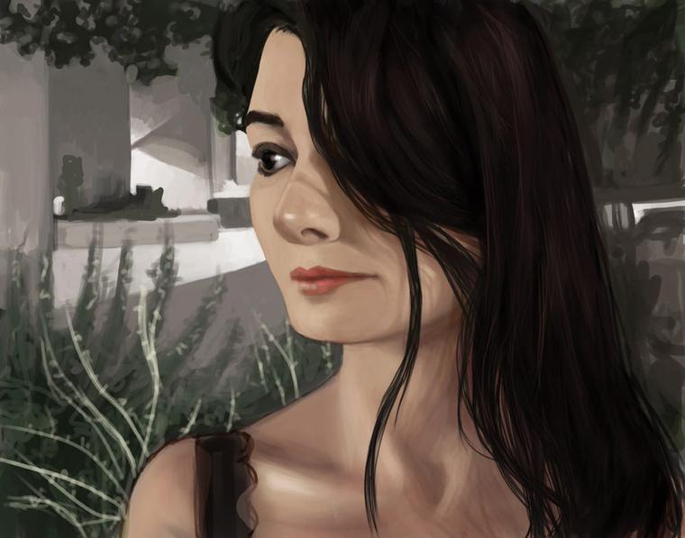 Modellekre nincs pénze, így a múzsája a felesége, a képein a nő alakok őt ábrázolják.