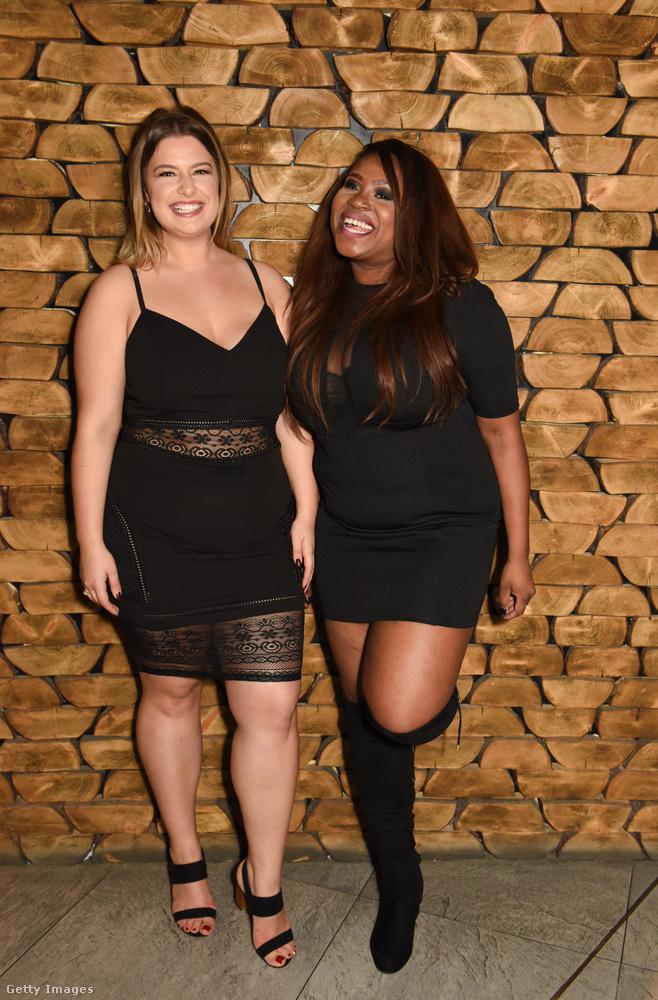 Aliss Bonyton és Angela Amoateng bebizonyították, hogy a teltkarcsú nőknek is remekül áll a kis fekete ruha.