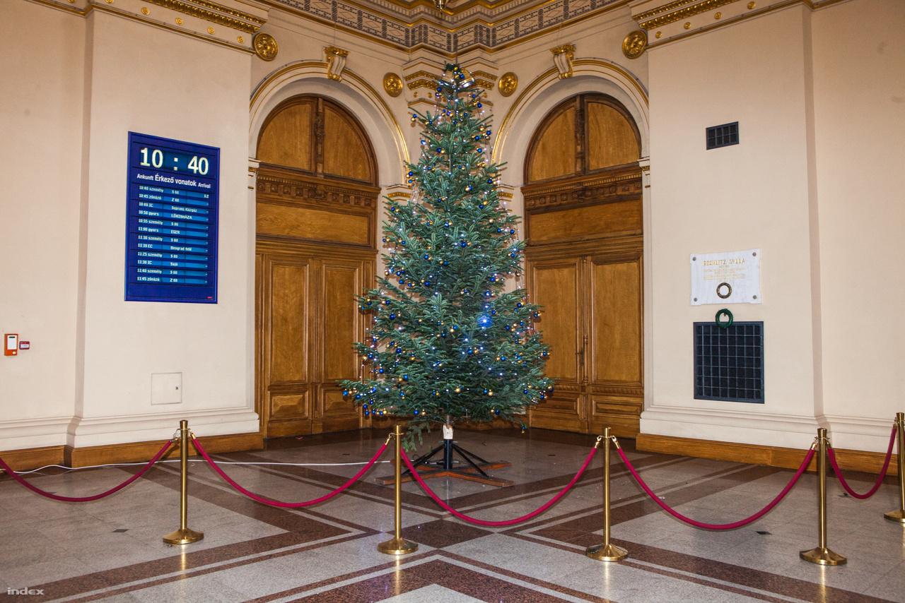 Karácsonyfa a Keleti pályaudvaron