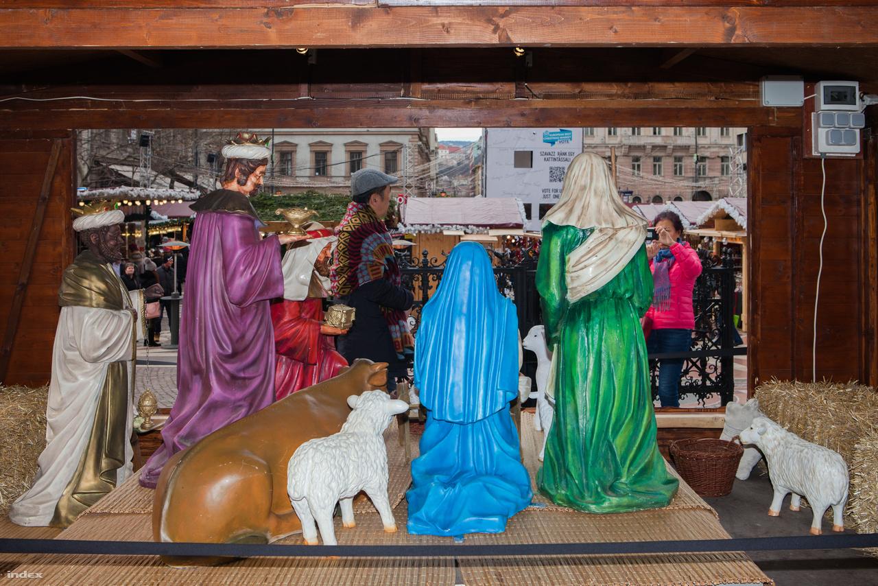 Betlehem a Szent István téri karácsonyi vásáron