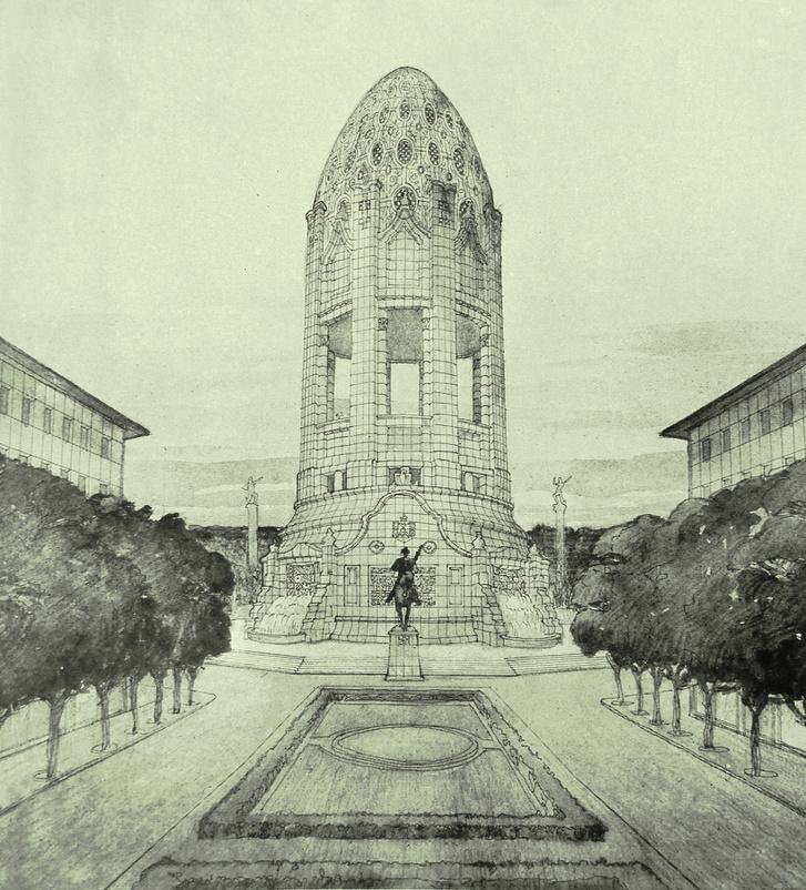 Rákóczi-emlék Kecskeméten A Ház 1911JPG