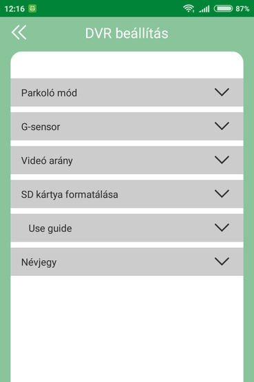 Navitel R1000: az app menüpontjai