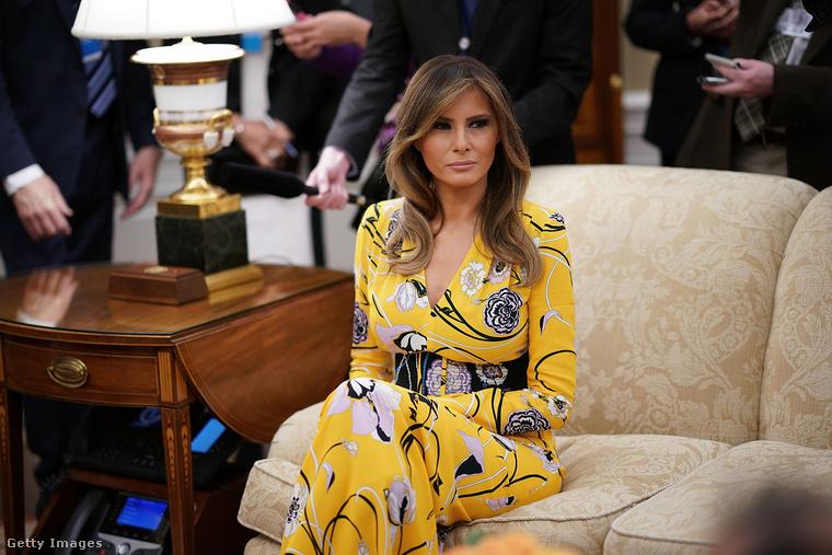 Ebben a sárga, virágos Emilio Pucci ruhában találkozott az indiai miniszterelnökkel, Narendra Modival