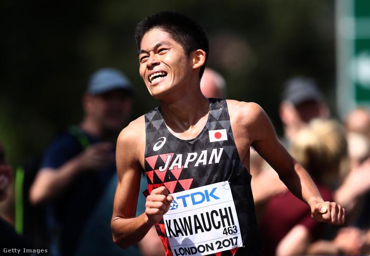 Kavaucsi a 2017-es londoni világbajnokság maratonfutásának céljában